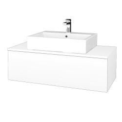Dřevojas - Koupelnová skříňka MODULE SZZ1 100 - N01 Bílá lesk / M01 Bílá mat (313227)