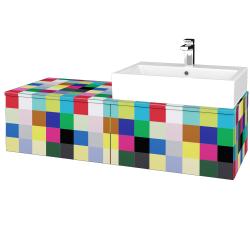 Dřevojas - Koupelnová skříňka MODULE SZZ12 120 - IND Individual / IND Individual / Levé (314927)