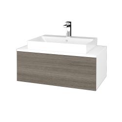 Dřevojas - Koupelnová skříňka MODULE SZZ1 80 - N01 Bílá lesk / D03 Cafe (333379)
