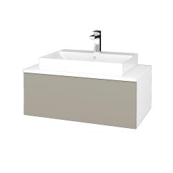 Dřevojas - Koupelnová skříňka MODULE SZZ1 80 - N01 Bílá lesk / M05 Béžová mat (333485)