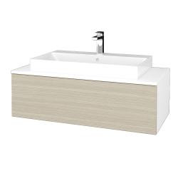 Dřevojas - Koupelnová skříňka MODULE SZZ1 100 - N01 Bílá lesk / D04 Dub (334871)