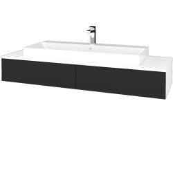 Dřevojas - Koupelnová skříňka MODULE SZZ2 140 - N01 Bílá lesk / N03 Graphite (337490)