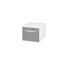 Dřevojas - Skříň nízká DOS SNZ1 40 - N01 Bílá lesk / Úchytka T01 / D20 Galaxy (281793A)