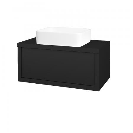 Dřevojas - Koupelnová skříň STORM SZZ 80 (umyvadlo Joy) - L03 Antracit vysoký lesk / L03 Antracit vysoký lesk (250911)