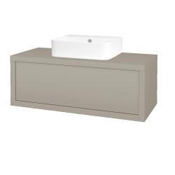 Dřevojas - Koupelnová skříň STORM SZZ 100 (umyvadlo Joy 3) - L04 Béžová vysoký lesk / L04 Béžová vysoký lesk (251642)