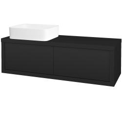 Dřevojas - Koupelnová skříň STORM SZZ2 120 (umyvadlo Joy) - L03 Antracit vysoký lesk / L03 Antracit vysoký lesk / Levé (251925)