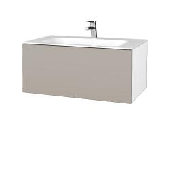 Dřevojas - Koupelnová skříň VARIANTE SZZ 80 - N01 Bílá lesk / N07 Stone (268435)