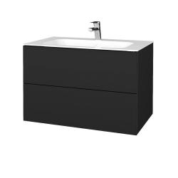 Dřevojas - Koupelnová skříň VARIANTE SZZ2 80 - L03 Antracit vysoký lesk / L03 Antracit vysoký lesk (268664)