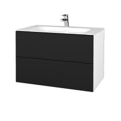 Dřevojas - Koupelnová skříň VARIANTE SZZ2 80 - N01 Bílá lesk / N08 Cosmo (268916)