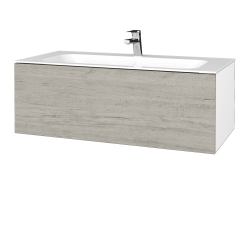 Dřevojas - Koupelnová skříň VARIANTE SZZ 100 - N01 Bílá lesk / D05 Oregon (269227)