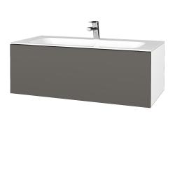 Dřevojas - Koupelnová skříň VARIANTE SZZ 100 - N01 Bílá lesk / N06 Lava (269364)