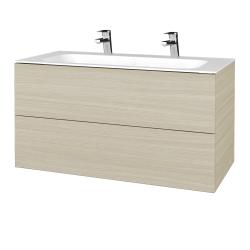 Dřevojas - Koupelnová skříň VARIANTE SZZ2 100 - D04 Dub / D04 Dub (269487U)