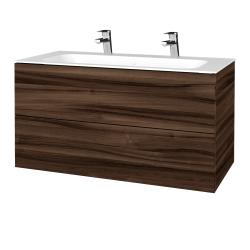 Dřevojas - Koupelnová skříň VARIANTE SZZ2 100 - D06 Ořech / D06 Ořech (269500U)