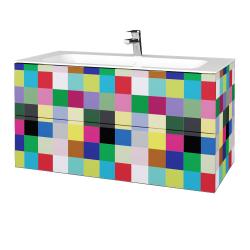 Dřevojas - Koupelnová skříň VARIANTE SZZ2 100 - IND Individual / IND Individual (269593)
