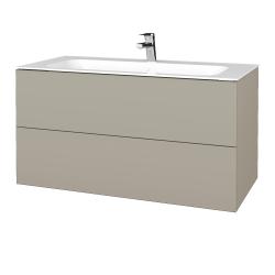 Dřevojas - Koupelnová skříň VARIANTE SZZ2 100 - L04 Béžová vysoký lesk / L04 Béžová vysoký lesk (269616)