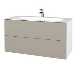 Dřevojas - Koupelnová skříň VARIANTE SZZ2 100 - N01 Bílá lesk / L04 Béžová vysoký lesk (269814)