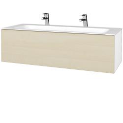 Dřevojas - Koupelnová skříň VARIANTE SZZ 120 - N01 Bílá lesk / D02 Bříza (270131U)