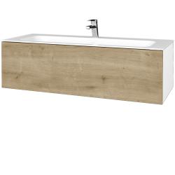 Dřevojas - Koupelnová skříň VARIANTE SZZ 120 - N01 Bílá lesk / D09 Arlington (270193)