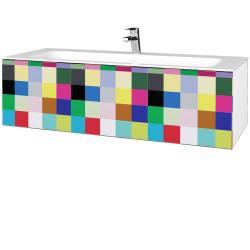 Dřevojas - Koupelnová skříň VARIANTE SZZ 120 - N01 Bílá lesk / IND Individual (270261)
