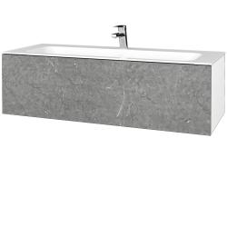 Dřevojas - Koupelnová skříň VARIANTE SZZ 120 - N01 Bílá lesk / D20 Galaxy (270377)
