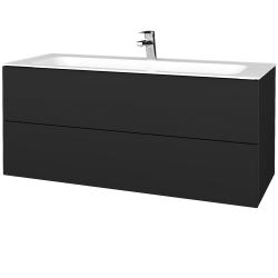 Dřevojas - Koupelnová skříňka VARIANTE SZZ2 120 - L03 Antracit vysoký lesk / L03 Antracit vysoký lesk (270544)