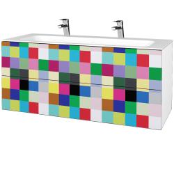 Dřevojas - Koupelnová skříňka VARIANTE SZZ2 120 - N01 Bílá lesk / IND Individual (270735U)