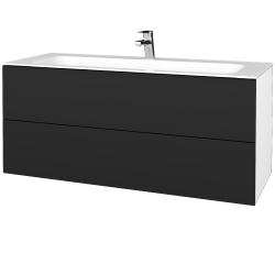 Dřevojas - Koupelnová skříňka VARIANTE SZZ2 120 - N01 Bílá lesk / L03 Antracit vysoký lesk (270742)