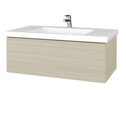 Dřevojas - Koupelnová skříňka VARIANTE SZZ 100 - D04 Dub / D04 Dub (274641)
