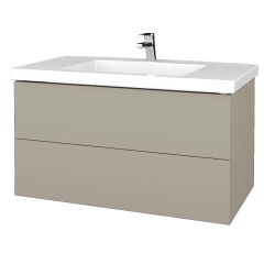 Dřevojas - Koupelnová skříňka VARIANTE SZZ2 100 - M05 Béžová mat / M05 Béžová mat (275211)