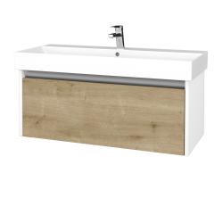 Dřevojas - Koupelnová skříň BONO SZZ 100 - N01 Bílá lesk / D09 Arlington (277703)