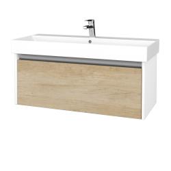 Dřevojas - Koupelnová skříň BONO SZZ 100 - N01 Bílá lesk / D15 Nebraska (277710)