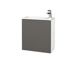 Dřevojas - Koupelnová skříň VARIANTE SZD 50 - N01 Bílá lesk / N06 Lava / Levé (328078)