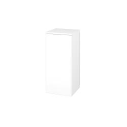 Dřevojas - Skříň spodní DOS SND 35 - N01 Bílá lesk / Bez úchytky T31 / L01 Bílá vysoký lesk / Pravé (22368DP)