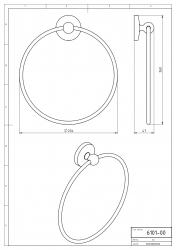 NOVASERVIS - Kruhový držák ručníků Metalia 1 chrom (6101,0), fotografie 6/3