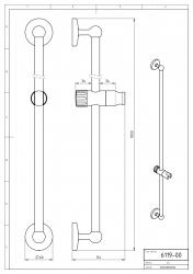 NOVASERVIS - Posuvný držák sprchy 100 cm Metalia 1 chrom (6119,0), fotografie 4/2