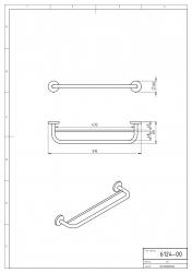 NOVASERVIS - Dvojitý držák ručníků 450 mm Metalia 1 chrom (6124,0), fotografie 4/2