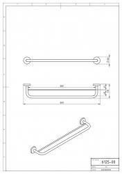NOVASERVIS - Dvojitý držák ručníků 600 mm Metalia 1 chrom (6125,0), fotografie 6/3