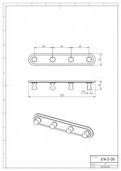 NOVASERVIS - Čtyřháček Metalia 1 chrom (6143,0), fotografie 4/2
