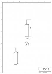 NOVASERVIS - WC štětka tubus na postavení Metalia 1 chrom (6159,0), fotografie 4/2