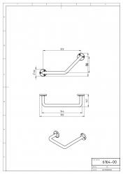 NOVASERVIS - Lomené madlo k vaně Metalia 1 chrom (6164,0), fotografie 4/2