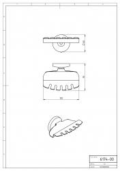 NOVASERVIS - Držák kartáčků a pasty Metalia 1 chrom (6174,0), fotografie 4/2