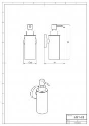 NOVASERVIS - Dávkovač mýdla kov Metalia 1 chrom (6177,0), fotografie 4/2