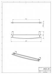 NOVASERVIS - Dvojitý držák ručníků 600 mm Metalia 2 chrom (6225,0), fotografie 4/2