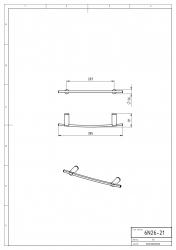 NOVASERVIS - Držák ručníků 400 mm Metalia 2 chrom (6226,0), fotografie 4/2