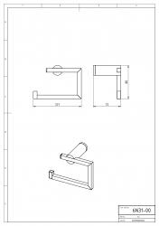 NOVASERVIS - Závěs toaletního papíru Metalia 2 chrom (6231,0), fotografie 4/2