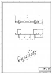NOVASERVIS - Čtyřháček Metalia 2 chrom (6243,0), fotografie 4/2