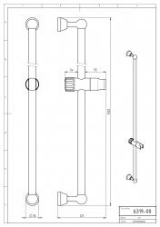 NOVASERVIS - Posuvný držák sprchy 100 cm Metalia 3 chrom (6319,0), fotografie 4/2
