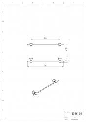 NOVASERVIS - Držák ručníků 350 mm Metalia 3 chrom (6326,0), fotografie 4/2
