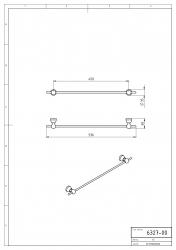 NOVASERVIS - Držák ručníků 450 mm Metalia 3 chrom (6327,0), fotografie 6/3