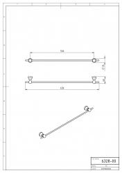 NOVASERVIS - Držák ručníků 550 mm Metalia 3 chrom (6328,0), fotografie 4/2